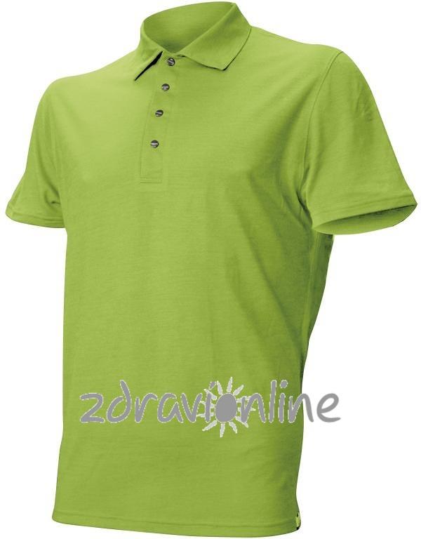 Pánské vlněné polo Lasting Merino DINGO světle zelené Zdraví Online 1f5553e523