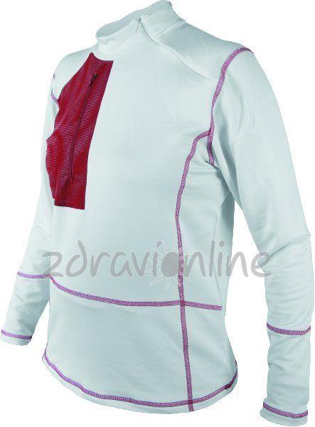 Dámská mikina Sensor Micro Stretch bílá Zdraví Online 77423bec010