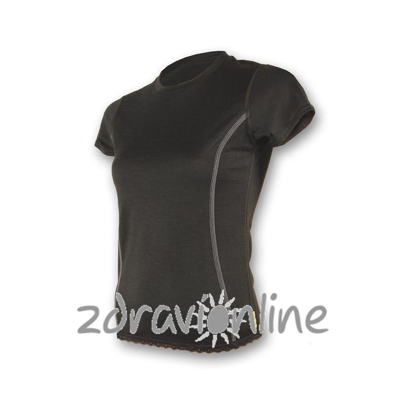 Dámské tričko SENSOR MERINO ACTIVE černé Zdraví Online aca47bf460